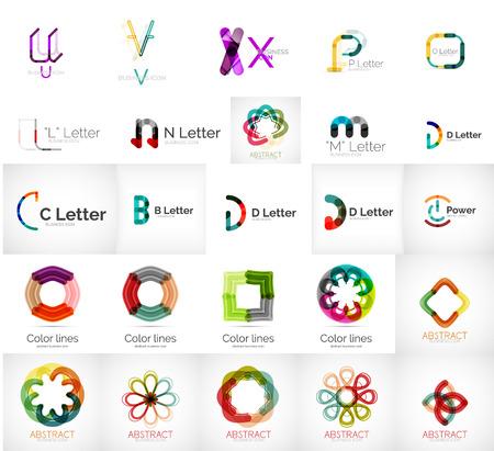 abstract logos: Set of various universal company logos