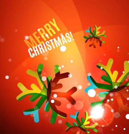 merry chrismas: Colorful bright shiny Chrismas card