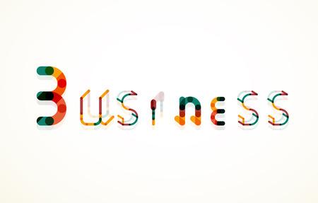 keyword: Business word keyword font
