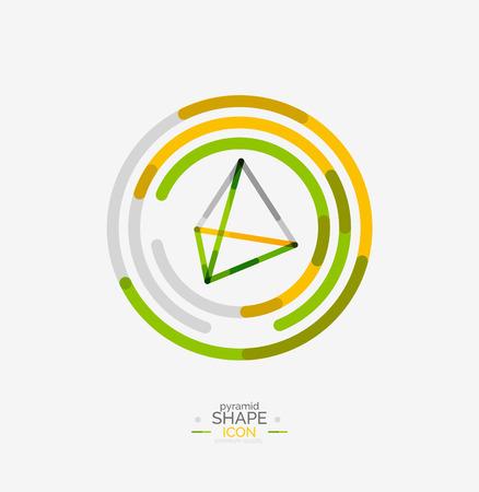 apex: Pyramid shape line design Illustration