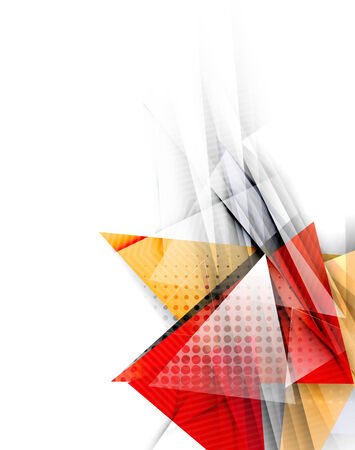 Color triangles, unusual abstract background Vector