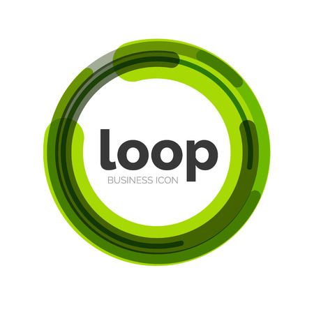 in the loop: Loop, infinity business icon Illustration