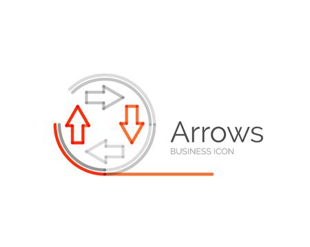 minimal: Line minimal design logo arrows