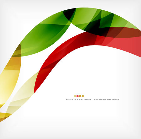 smooth curve design: Business wave corporate background Illustration