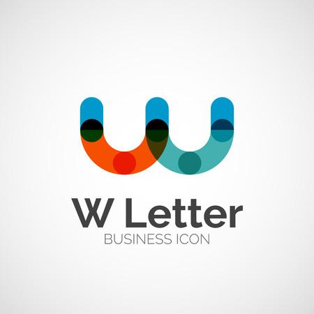 W letter logo, minimal line design Logo
