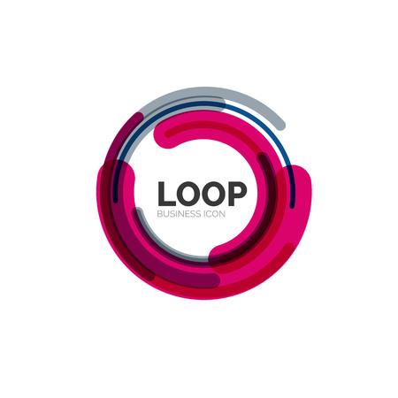 a loop: Loop, infinity business icon Illustration
