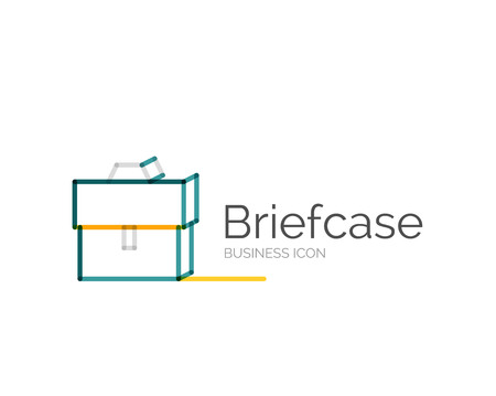 minimal: Line minimal design icon briefcase