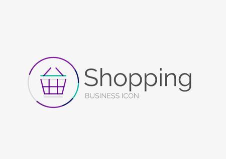 Thin line neat design icon, shopping cart icon Vector