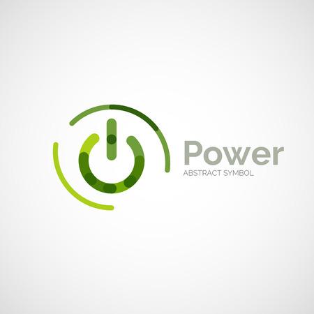 minimalistic: Power button logo design, minimalistic line art