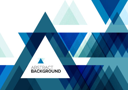 Triangle geometric concept, abstract background Vector