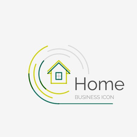 Thin line neat design icon, home idea