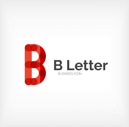 B letter icon, minimal line design Vector