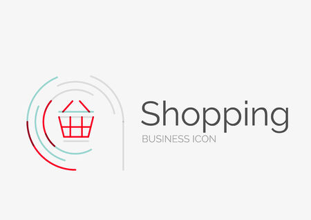 neat: Thin line neat design  , shopping cart icon Illustration