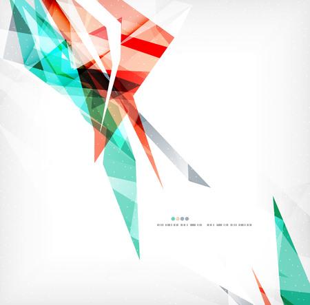 modish: Angular geometric color shapes Illustration