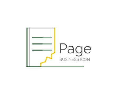 minimal: Line minimal design  page