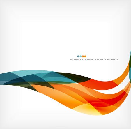 kurve: Geschäfts Welle Unternehmenshintergrund Illustration