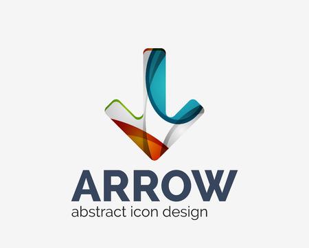 top pointer: Clean modern wave design arrow   Illustration