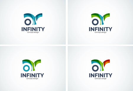 Infinity design icon set Vector