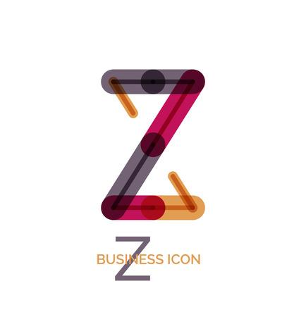 Minimal line font design, letter Z Illustration