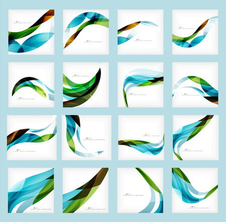 wave: Set of business corporate abstract backgrounds