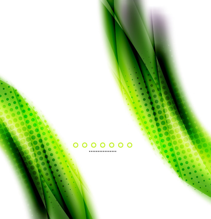 Abstract background, green wave business template Vector