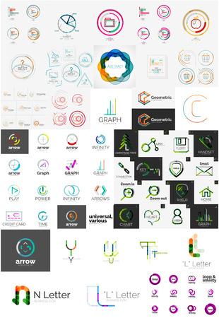 various: Set of various universal company logos