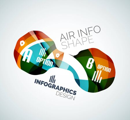 Modern fresh wave business infographics Vector