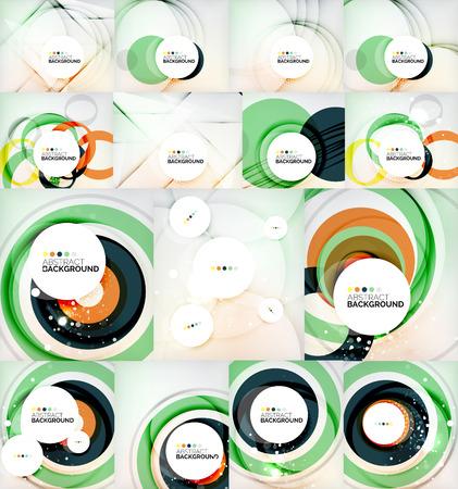 Color circles backgrounds set Vector