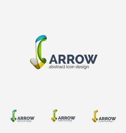 back link: Clean moden wave design arrow