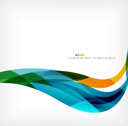 Zakelijke golf collectieve achtergrond Stockfoto - 35598646