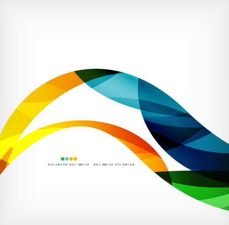 geometric shapes: Business wave corporate background Illustration