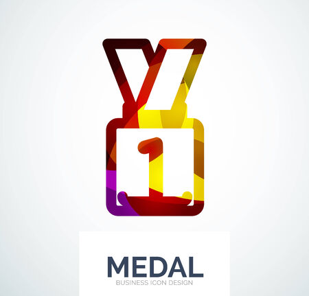 medal like: Colorful award business icon
