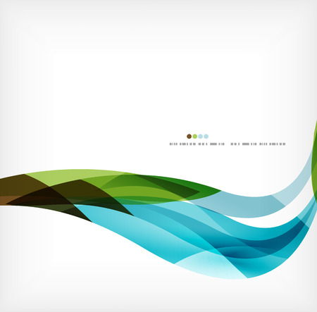 brochure cover: Business wave corporate background Illustration