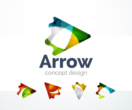 Abstract arrow icon design Illustration