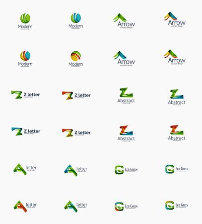 Modern company icon set Vector