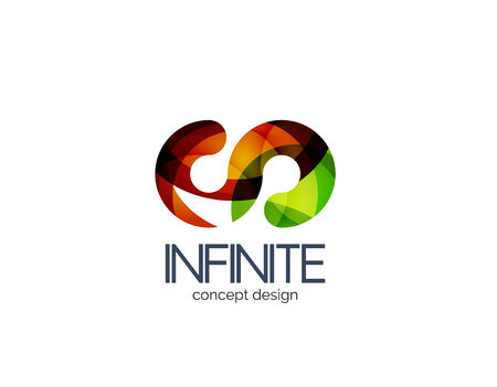 looped shape: Infinity business icon concept Illustration