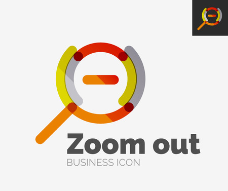 a round of inspection: Minimal line design icon, zoom icon