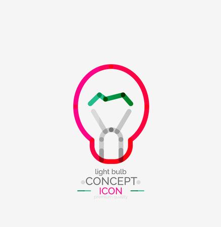 minimal: Light bulb minimal design icon