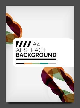 bleed: Flyer design template, business web layout