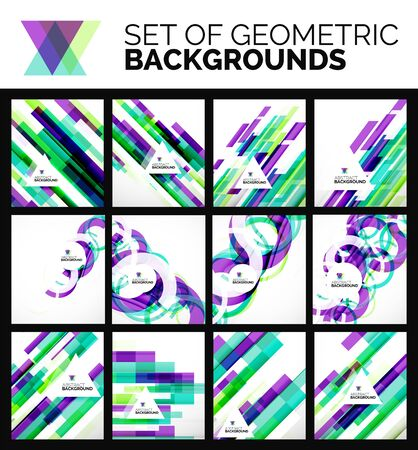 Set of flyer templates, abstract backgrounds Vector