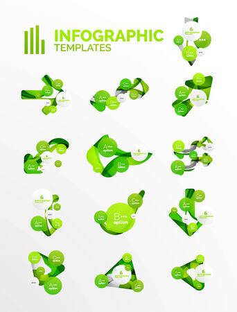 Set of modern business infographics Vector