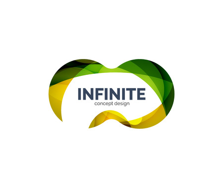 looped shape: Infinity business logo concept Illustration