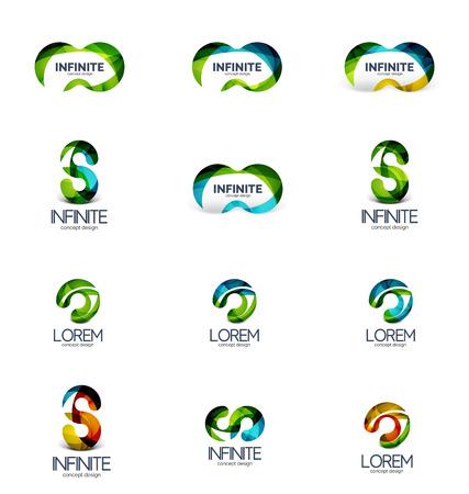 Set of infinity and loop company logos