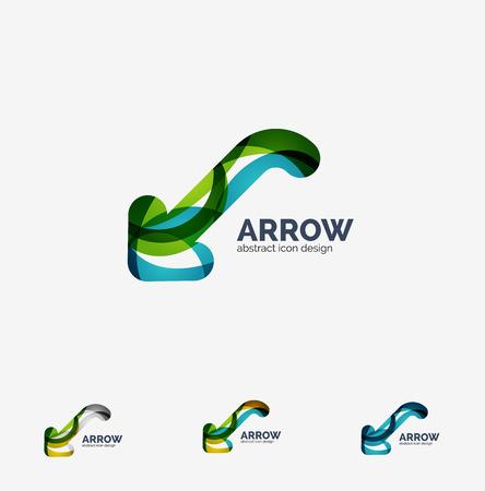 back link: Clean moden wave design arrow logo Illustration