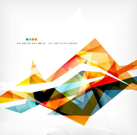 Angular geometric color shapes Illustration