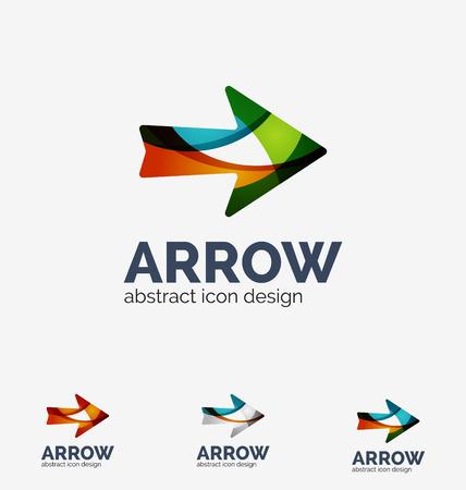top pointer: Clean moden wave design arrow