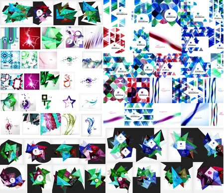 universal: Universal mega collection of web abstract backgrounds Illustration