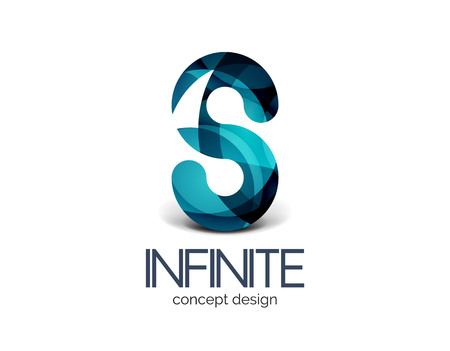 looped shape: Infinity business  concept