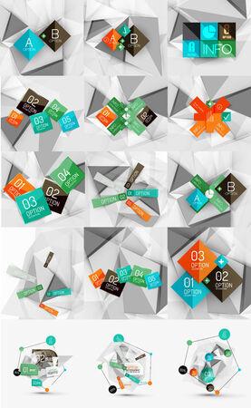 color paper: Mega conjunto de infograf�as de papel de color