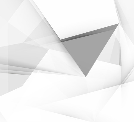 Grey triangular vector abstract background